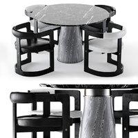 3D camden table zuma chair model