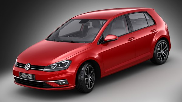 volkswagen golf facelift 3D model