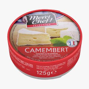 3D model heese camembert cheese