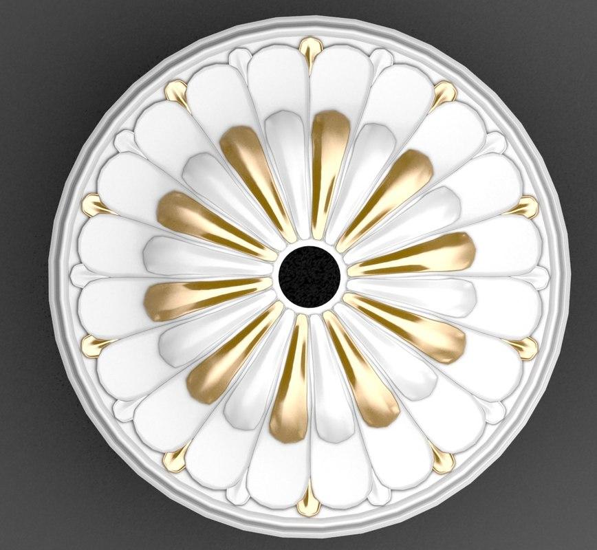 plaster ceiling medallion model