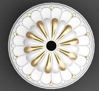Plaster ceiling medallion 3d model