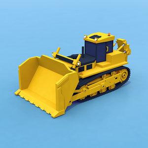 3D heavy bulldozer