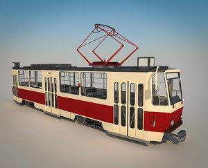 tatra t6a5 tram 3D model