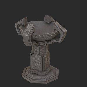 3D fantasy candlestick model