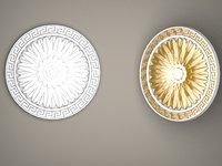 Plaster ceiling ornament, ceiling medallion