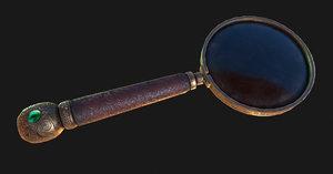 3D vintage magnifying glass