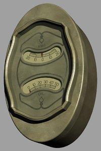 3D buick oil pressure ampre