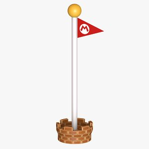 goal-pole final stage flag model