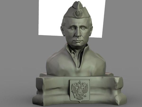 3D model bust vladimir putin