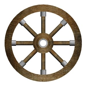3D model medieval wheel