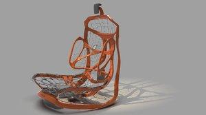 3D model lexus kinetic seat