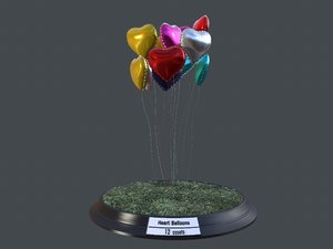 heart balloons pack1 pack 3D model
