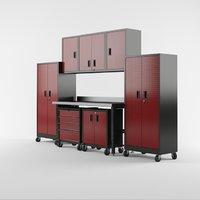 3D garage furniture set model