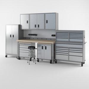garage furniture set 2 3D model