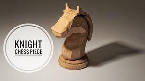 knight piece chess 3D