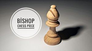 bishop piece 3D model