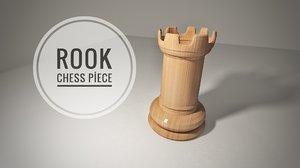 3D chess piece rook model