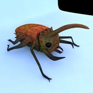 futuristic beetle 3D model