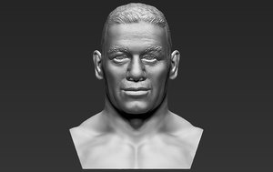 john cena bust ready 3D model