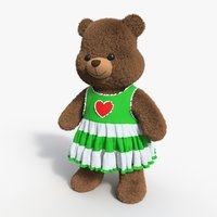 3D model bear toy brown 10