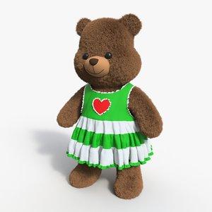 3D model bear toy brown 10