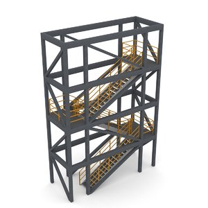 3D stair tower modular