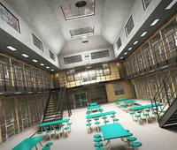 prison architecture jail 3D