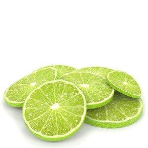 3D citrus lime slices