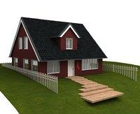 farm house architectural 3D model
