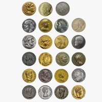 Ancient Coins Collection 3D Model