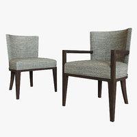 hbf charlotte guest chair 3D
