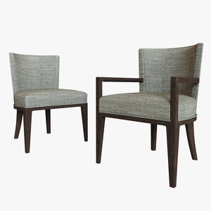 hbf charlotte guest chair 3D