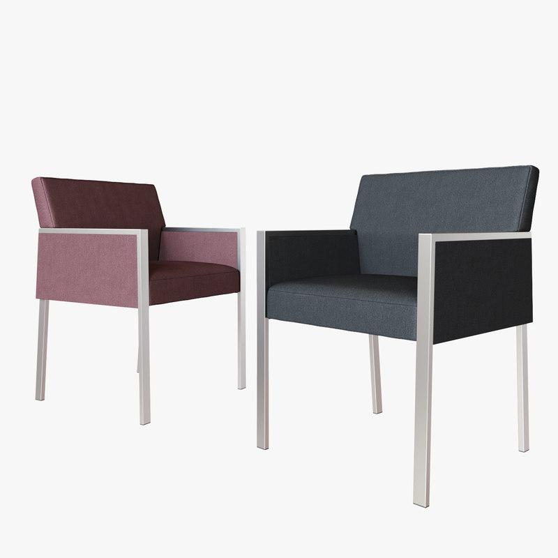 3D hbf corfino guest chair model