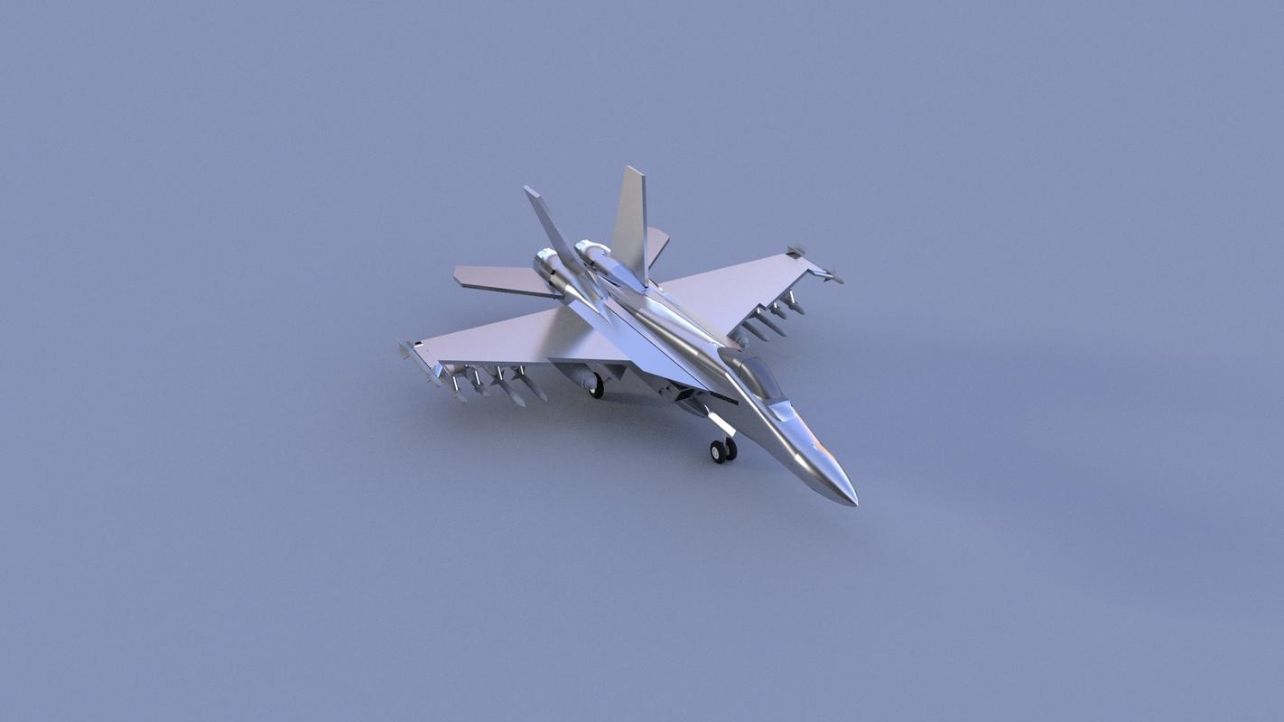 modern jet fighter 3D model
