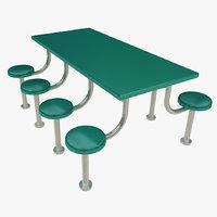 table prison 3D model