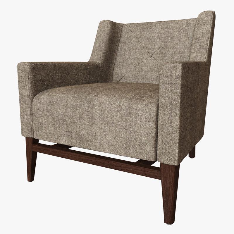 hbf trestle lounge chair 3D model