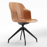 3D clop leather task chair model
