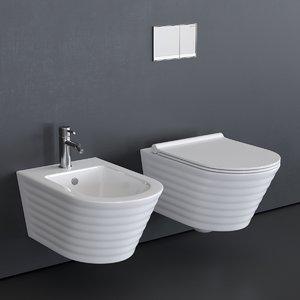 3D model toilet classy wc