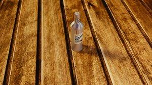 bottle vodka model