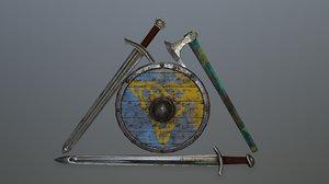shield sword model