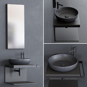 3D multiplo shui washbasin model