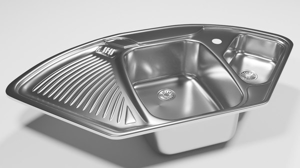 3D corner kitchen sink
