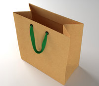 Paper Shopping Bag with Ribbin Handle