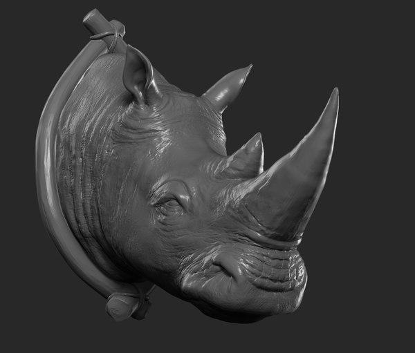 3D model rhinoceros printing decoration