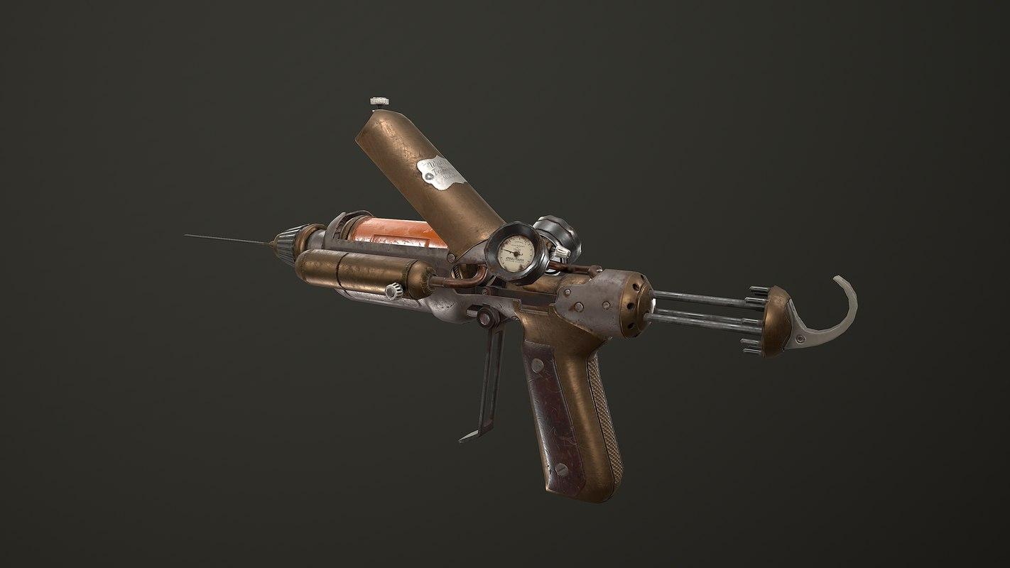 gameready steampunk needle 3D model