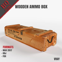 wooden ammo box 3D model
