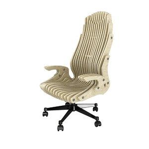 3D model cnc chair parametric office