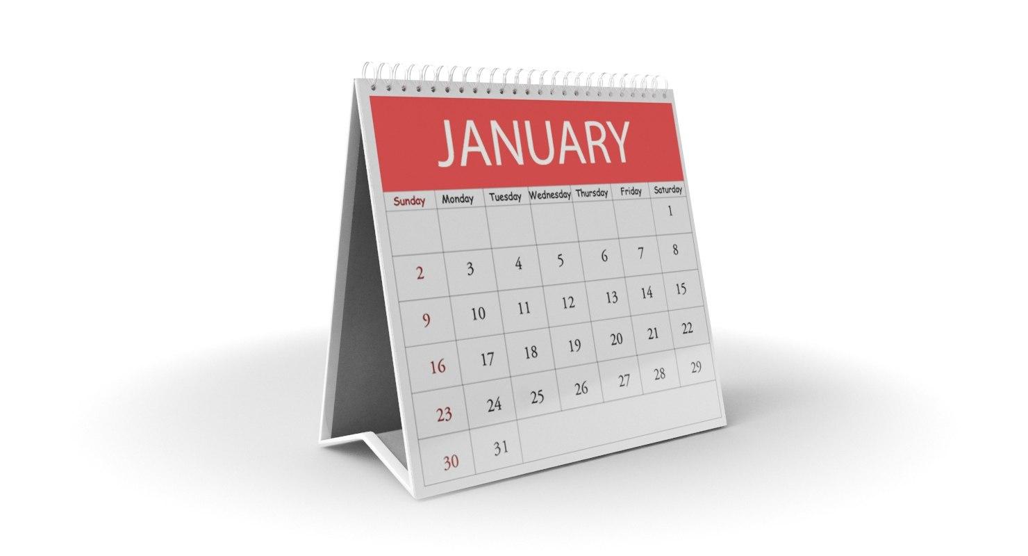 calendar modeled model