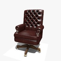 executive swival office chair 3D