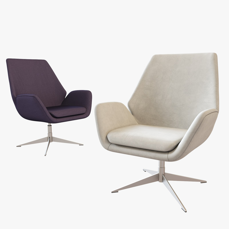 3D hbf conexus upholstered lounge chair